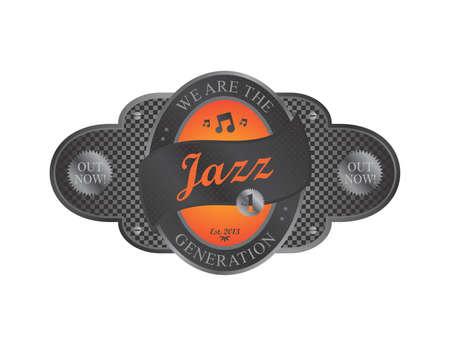 music genre label art Stock Vector - 21638518