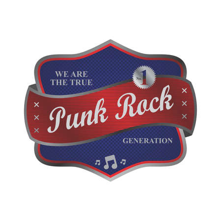 punk rock label Stock Vector - 22221902