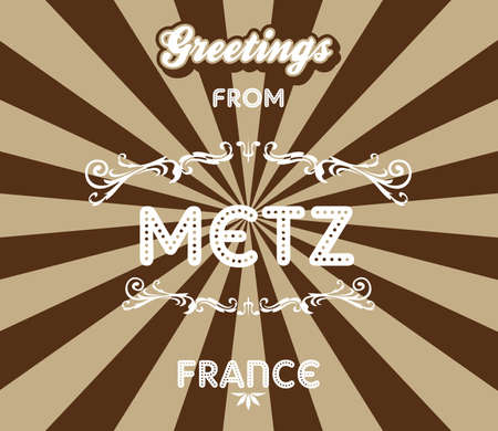 greeting france travel Vector