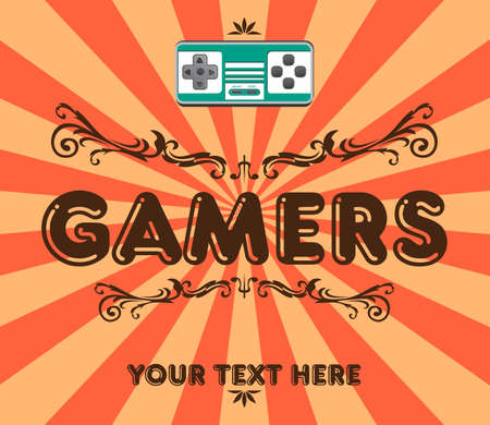 games art retro 일러스트