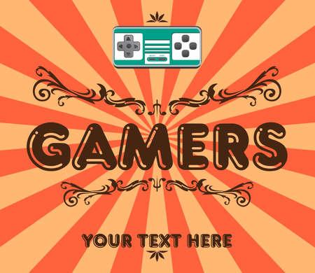joypad: juegos retro del arte Vectores