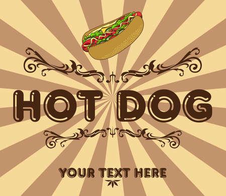 fast food art retro page Vector
