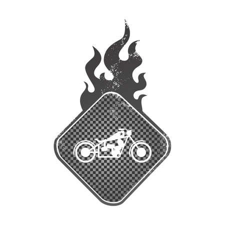 harley: chopper art flame Illustration