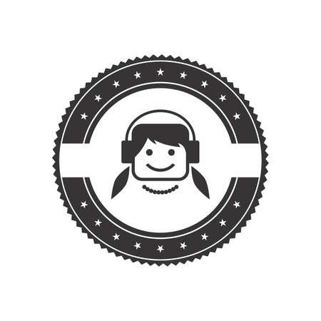 avatar label art Stock Vector - 21886233