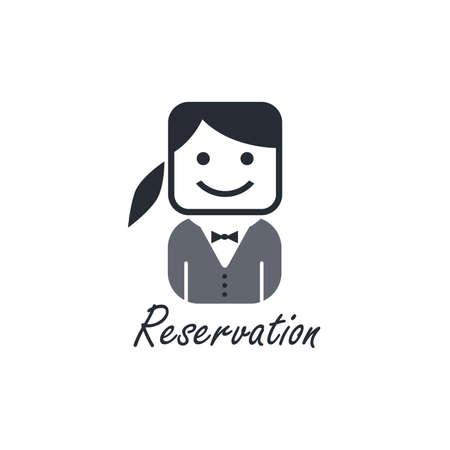 reservation: girl reservation Illustration