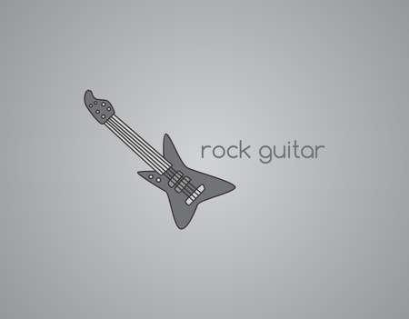 guitar rock Stock Vector - 21619713