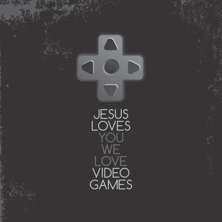 joypad: jesus game Illustration