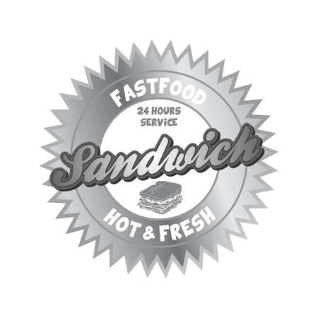 sandwich silver label Vector