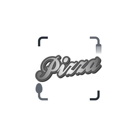 pizza capture photo Vector