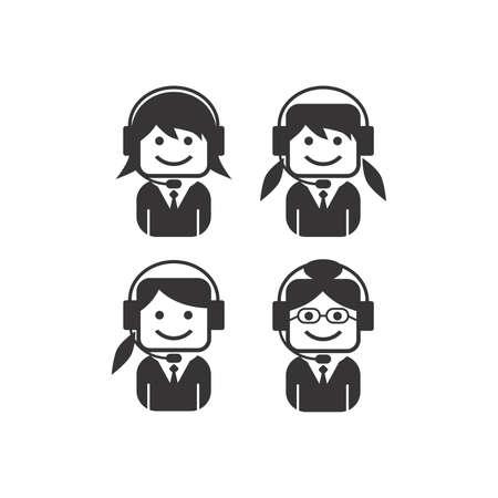 girl perator icon picture Stock Vector - 24146536