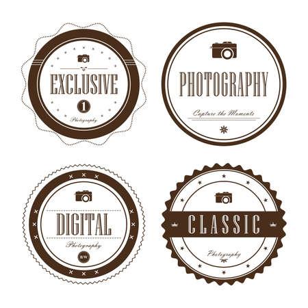 photography label set Illustration