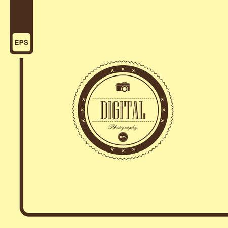 digital label Illustration