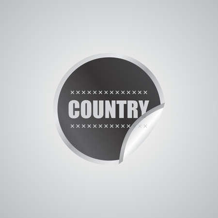 country sticker Stock Vector - 22512962