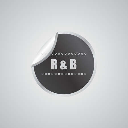 rhythm blues sticker Vector