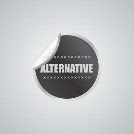 alternative sticker Vector