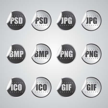 graphic file sticker Vector