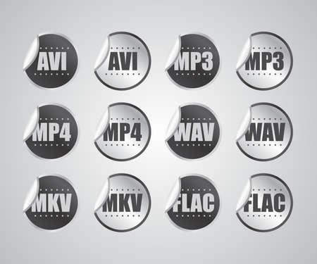 mpg: audio video sticker Illustration