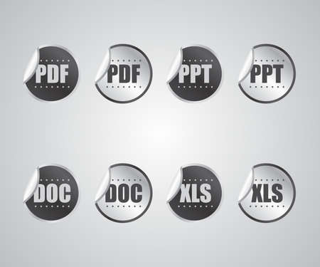 file format sticker Vector