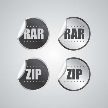 zip file sticker Vector