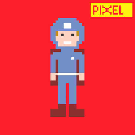 man in pixel Vector