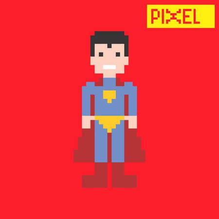 hero pixel art Vector