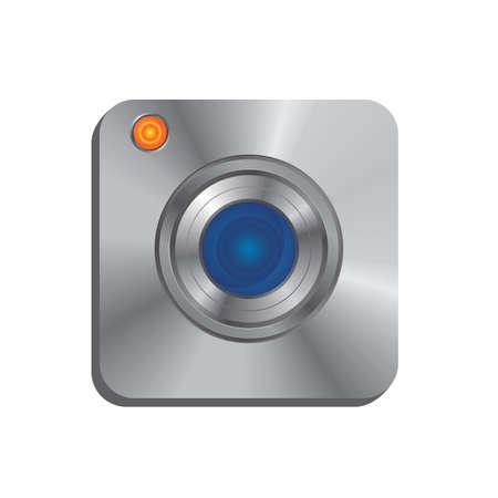 lens camera realistic icon Vector