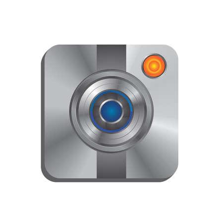 camera lens interface Vector