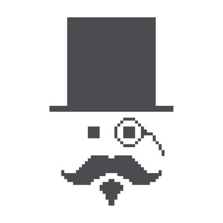 gentleman pixel Vector