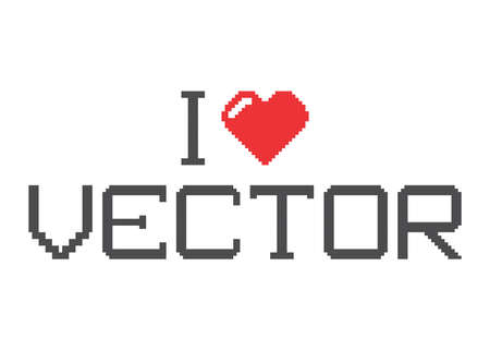 i love pixel Vector