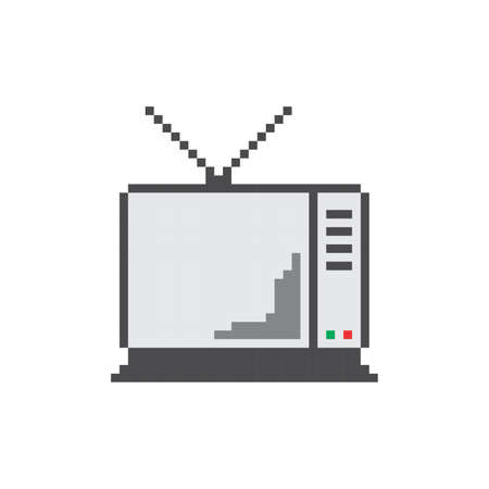 television pixel Vector