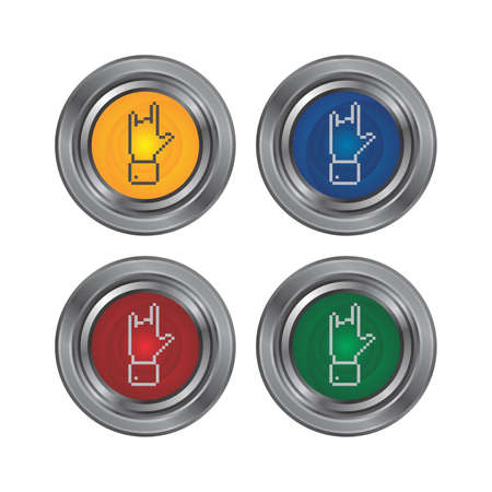 gesture finger hand button Vector