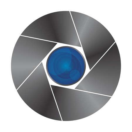 blue lens Vector