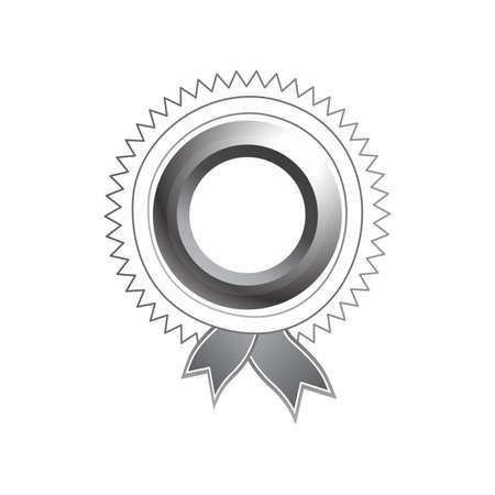 opulent: silver art label tag ribbon