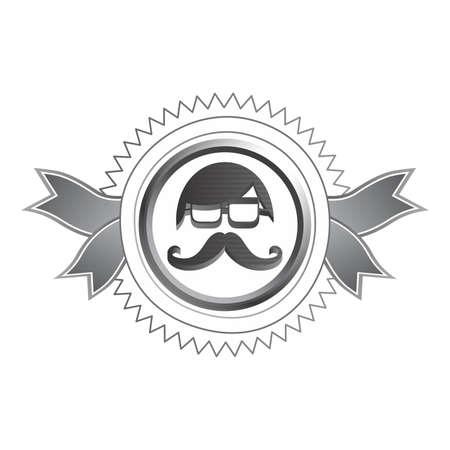 burly: mustache guy art