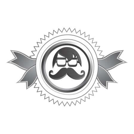 bigodes: bigodes avatar Ilustração