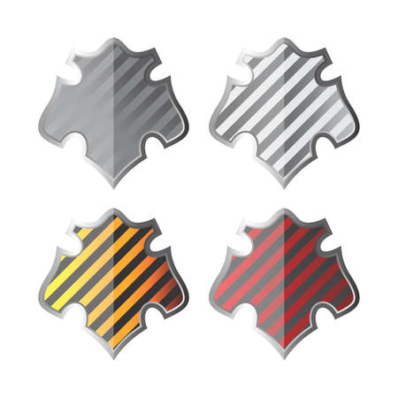 color stripe shield set Vector