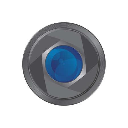 lens camera icon application Vector