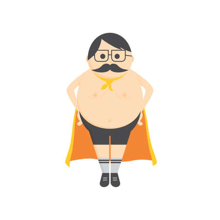 gimmick: hero gimmick fat mustache guy