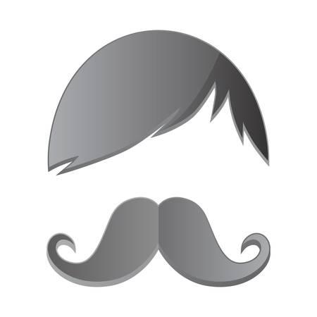 burly: grey avatar mustache art