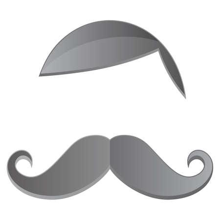 art graphic mustache retro Vector