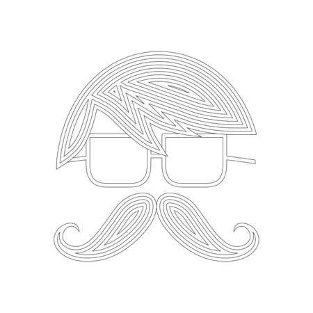 art graphic mustache retro