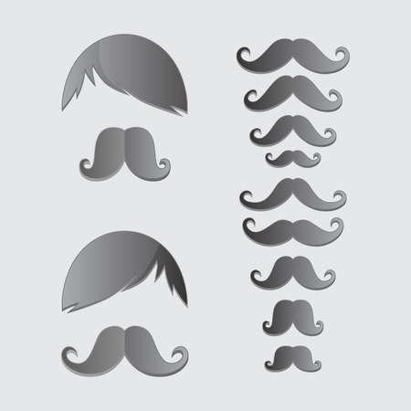 bigodes: bigodes bigode arte Ilustração