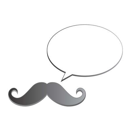 handlebar: avatar whiskers bubble Illustration