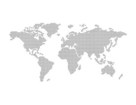 world map art Illustration