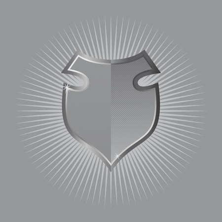 durchstechen: Licht durchdringen Schild Illustration