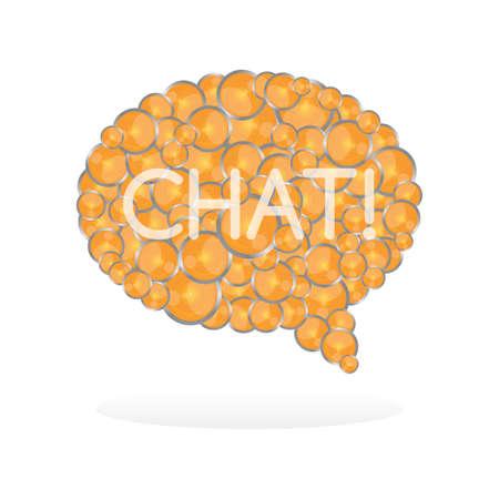 chat bubble media art Vector