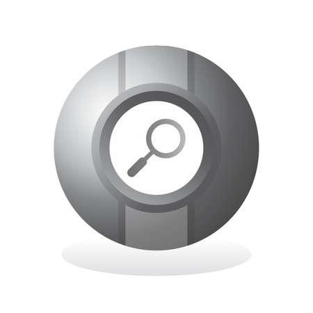 silver icon button sphere theme Vector