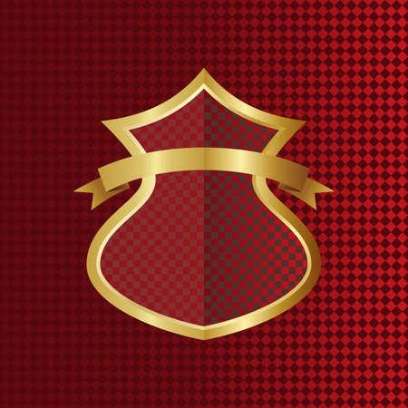 red gold shield Illustration