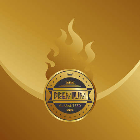 quality product: golden quality product label Illustration