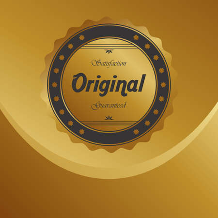 golden quality product label Vector